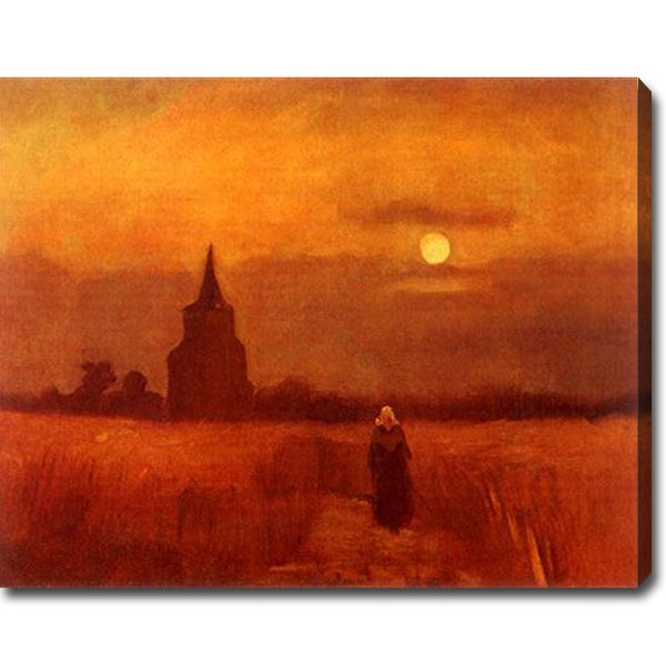 Vincent van Gogh 'The Old Cemetery-Tower in Nuenen' Oil on Canvas Art