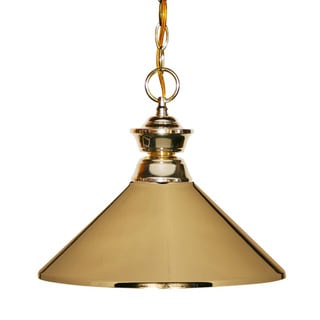 Polished Brass 1-Light Pendant Fixture