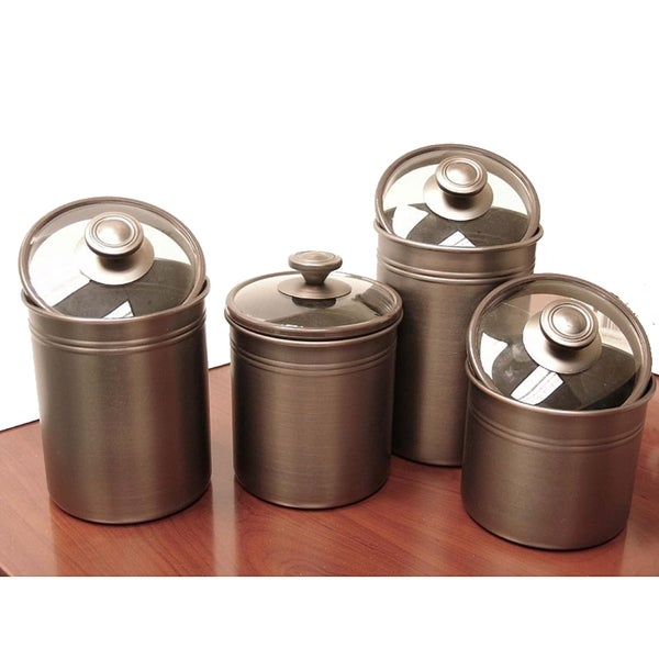 Oil Rubbed Bronze Kitchen Canister Set