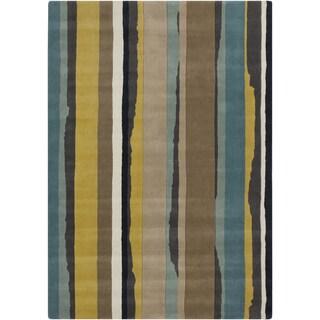 Hand-tufted Sanderson Williams Contemporary Stripe Rug (2' x 3')