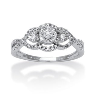 Isabella Collection 10k White Gold 3/4ct TDW Diamond Swirl Ring (G-H, I2-I3)