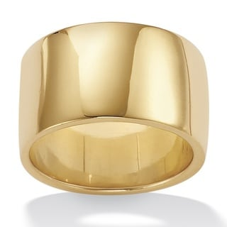 Toscana Collection 18k Gold over Sterling Silver Wide Wedding Band