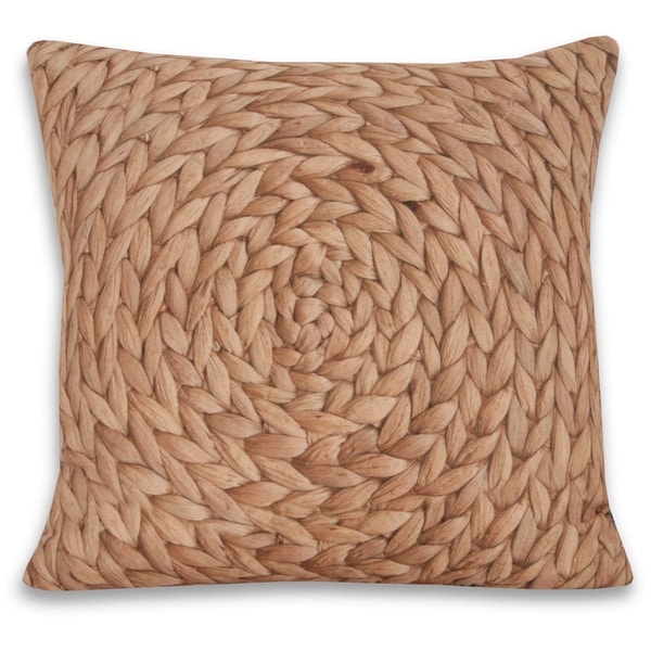 Trho Basket Weave Photograph 18x18 Decorative Throw Pillow