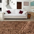 Hand-knotted Balthasar Chocolate Contemporary Abstract Rug (2'x3')