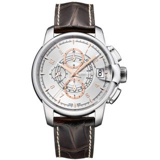 Hamilton Men's 'Railroad Auto Chrono' Silver Dial Watch