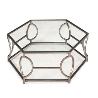 Nevelson Hexagonal Glass Cocktail Table