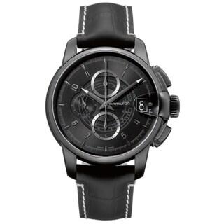 Hamilton Men's 'Railroad Auto Chrono' Black Chronograph Watch