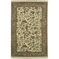 Hand-knotted Caesar Ivory Semi-Worsted New Zealand Wool Traditional Oriental Rug (2' x 3')