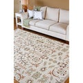 Hand-knotted Alarice Green New Zealand Wool Traditional Floral Rug (2' x 3')