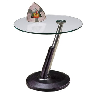 Modesto Metal and Glass Round End Table