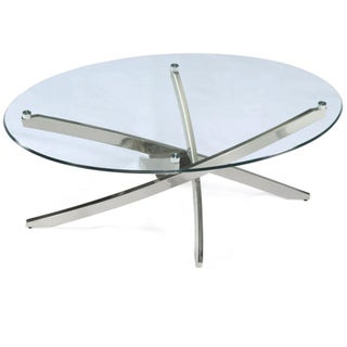 Zila Oval Glass Cocktail Table