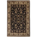 Hand-knotted Oriental Baldasarre Black New Zealand Wool Rug (3'9 x 5'9)