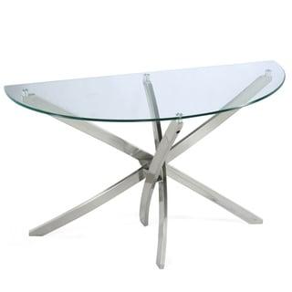 Zila Demilune Glass Sofa Table