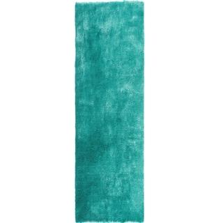 "Handmade Posh Teal Shag Rug (2'3"" x 8')"