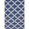 nuLOOM Handmade Flatweave Lattice Blue Wool Rug (5' x 8')