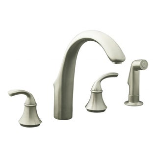 Forte Widespread Vibrant Brushed Nickel Ktchen Faucet
