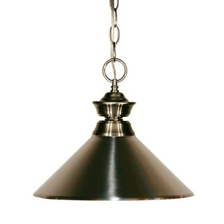 Pewter Pendant with Brushed Nickel Lights