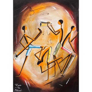 Thom 'Village Band' Canvas Painting (Malawi)
