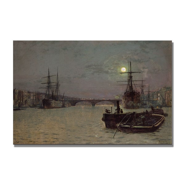John Grimshaw 'London Bridge Half Tide' Canvas Art
