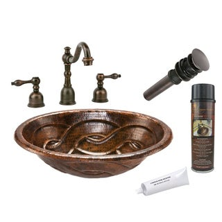 Premier Copper Products LO19RBDDB Widespread Faucet Package