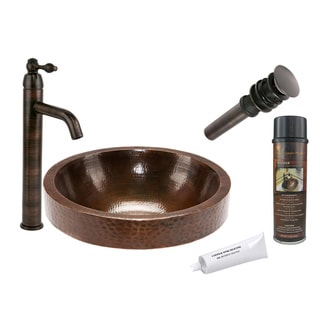 Premier Copper Products VR17SKDB Single Handle Vessel Faucet Package