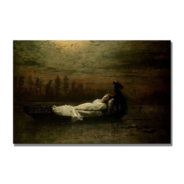 John Grimshaw 'The Lady of Shalott' Canvas Art
