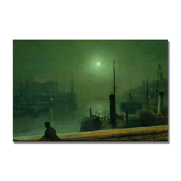 John Grimshaw 'On the Clyde' Glasgow' Canvas Art