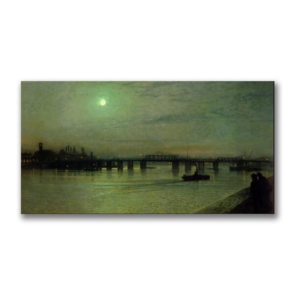 John Grimshaw 'Battersea Bridge' Canvas Art