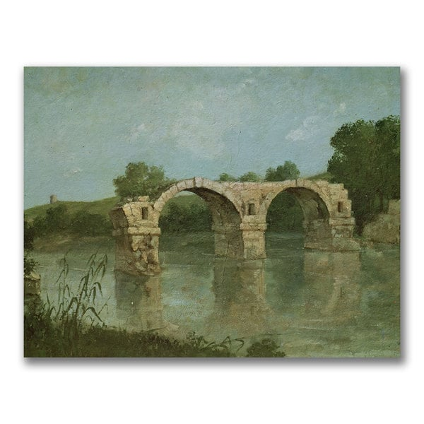 Gustave Courbet 'The Bridge at Ambrussum' Canvas Art