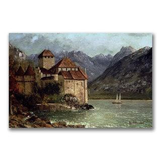 Gustave Courbet 'The Chateau de Chillon' Canvas Art