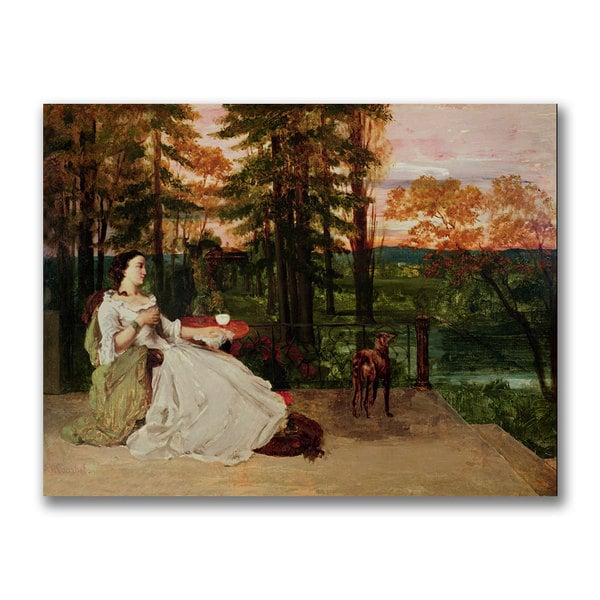 Gustave Courbet 'Woman of Frankfurt' Canvas Art