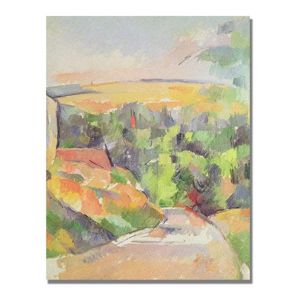 Paul Cezanne 'Bend in the Road' Canvas Art
