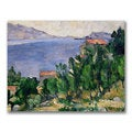 Paul Cezanne 'View of Mount Marseilleveyre' Canvas Art