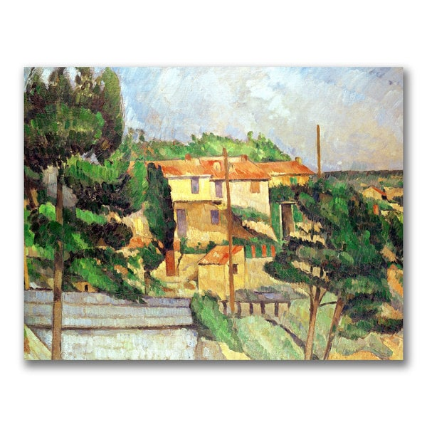 Paul Cezanne 'Viaduct at Estaque' Canvas Art