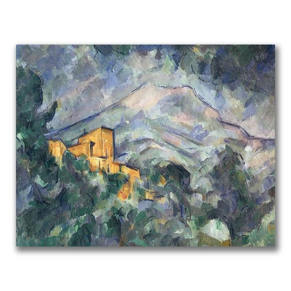Paul Cezanne 'Montagne Saint-Victoire Black' Canvas Art