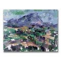 Paul Cezanne 'Mont Sainte-Victoire' Horizontal Canvas Art