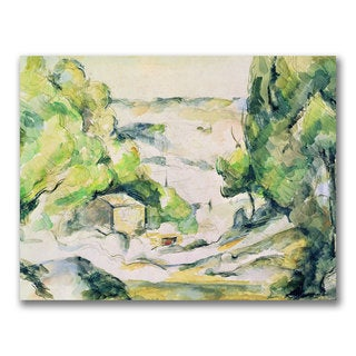 Paul Cezanne 'Countryside in Provence' Canvas Art