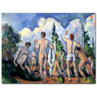 Paul Cezanne 'The Bathers 1890' Canvas Art