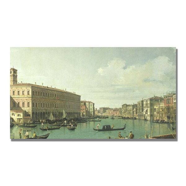 Canaletto 'The Grand Canal from the Rialto Bridge' Canvas Art