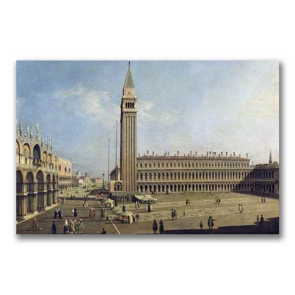 Canaletto 'Piazza San Marco Venice' Canvas Art