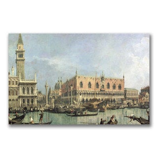 Canaletto 'The Molo and the Piazzetta' Canvas Art