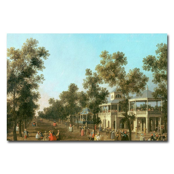 Canaletto 'Vauxhall Gardens-Grand Walk' Canvas Art