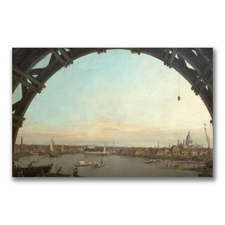 Canaletto 'London through an arch of Westminster' Canvas Art