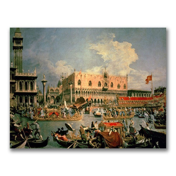 Canaletto 'Return of the Bucintoro' Canvas Art
