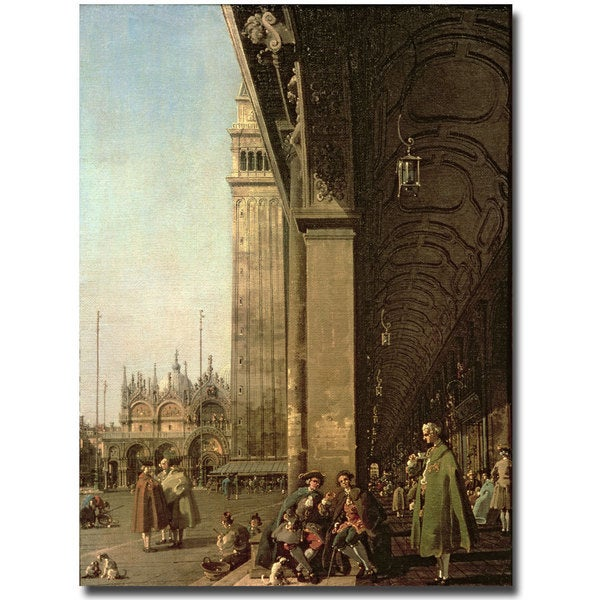 Canaletto 'Piazza di San Marco Venezzia' Canvas Art