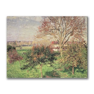 Camille Pissarro 'Autumn Morning at Eragny' Canvas Art