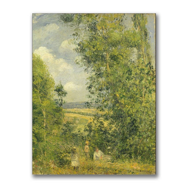 Camille Pissarro 'A Rest in the Meadow' Canvas Art