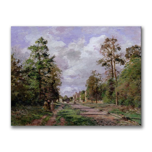 Camille Pissarro 'The Road to Louveciennes Edge' Canvas Art