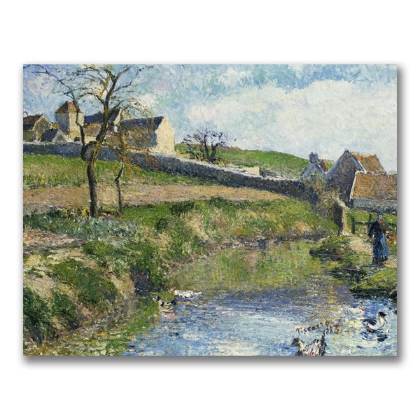 Camille Pissarro 'The Farm at Osny' Canvas Art