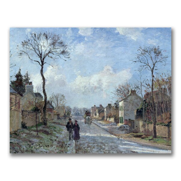 Camille Pissarro 'The Road to Louveciennes' Canvas Art